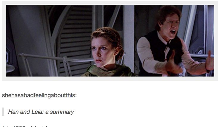 Han and Leia: a summary #swfunny