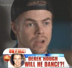 """Derek Hough On Dancing With The Stars Injury: """"I Can Wobble Around,"""" But """"Can't Dance"""" (VIDEO)"""