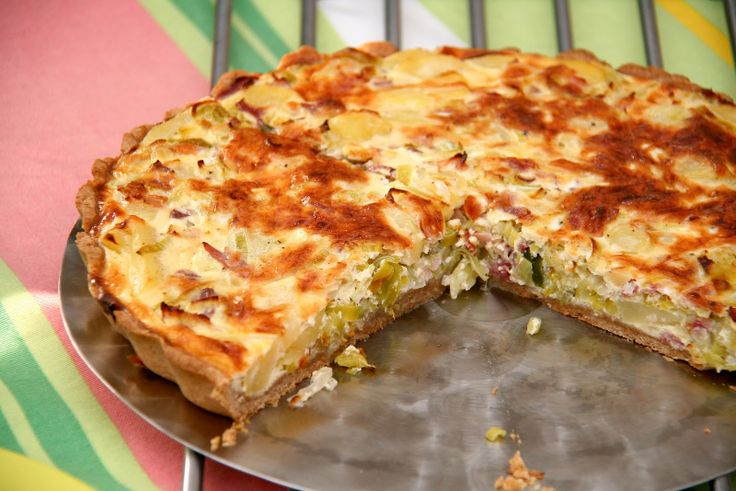 Bacon and Leek Quiche: Thermomix Recipe