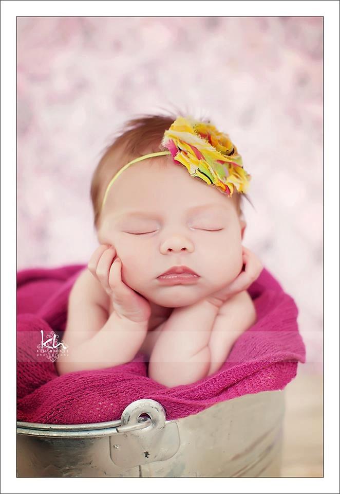 Shabby Chic Rosette Skinny Headband Baby Girl