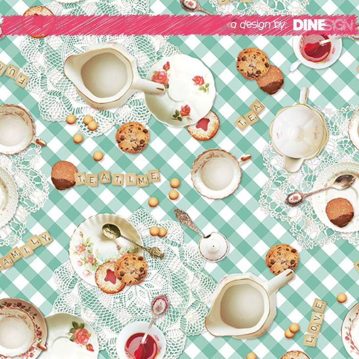 #tablecloth #teatime #design www.dinesign.nl