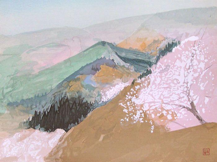 Landscape by Togyu Okumura 奥村土牛 (1889-1990).