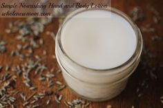 Nourishing hand & body cream. Melt and pour the following ingredients in small jar. 1/4 c coconut oil, 1/8 c coco butter, 1/8 c Shea butter, 1 Tbsp aloe vera gel, 5-10 drops of essential oil.