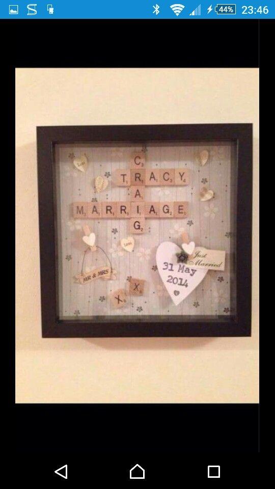Scrabble frame for wedding