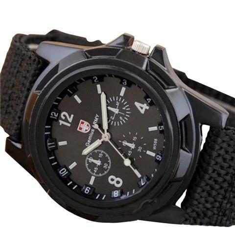 Mens Canvas Belt Luminous Wrist Watch