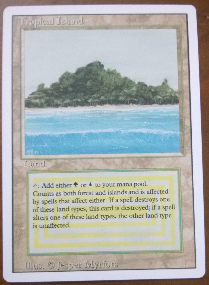 TROPICAL ISLAND Revised English/Italian - mtg magic the gathering - Perfect Proxy