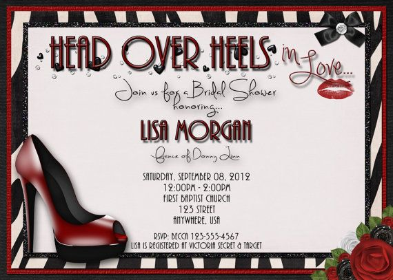 Head over Heels in Love Bridal Shower by DecidedlyDigital on Etsy, $15.00