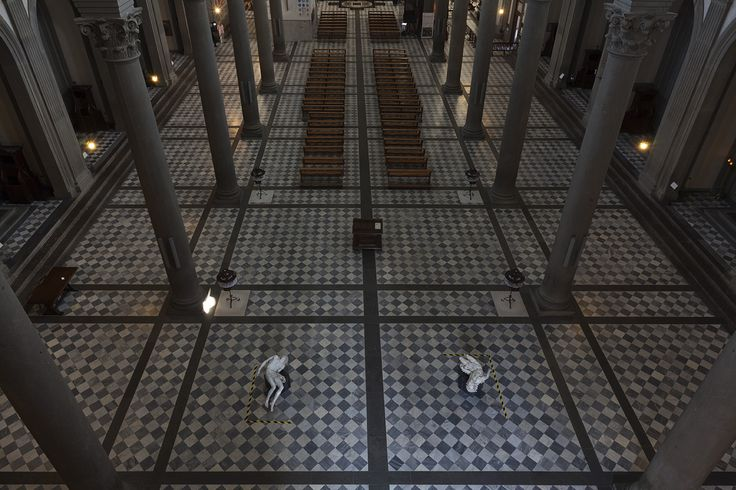 Fabio Viale Souvenir Pietà 2006 - 2016 Exhibition view Basilica San Lorenzo, Florence - CoSA | Contemporary Sacred Art