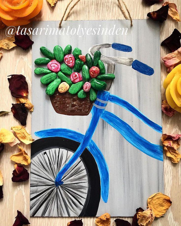 """""""Hayat bisiklete binmek gibidir. Pedalı çevirmeye devam ettiğiniz sürece düşmezsiniz.""""�� (18x28cm)ürünümüz satıştadır. #taşboyama #bicycle #ahşapboyama #tasboyama #tassanati #samsuntasboyama #kisiyeozeltasarimlar #homemade #boyama #tasboyamasanati #samsun #stonepainting #doğa #green #evdekorasyonu #tasarim #ahsaptasarim #hobi #nature #wood #dekorasyon #aksesuar #rich #10marifet #elyapimi #elsanati #tassanati #homemade  #stoneart #vintage #handmade…"""
