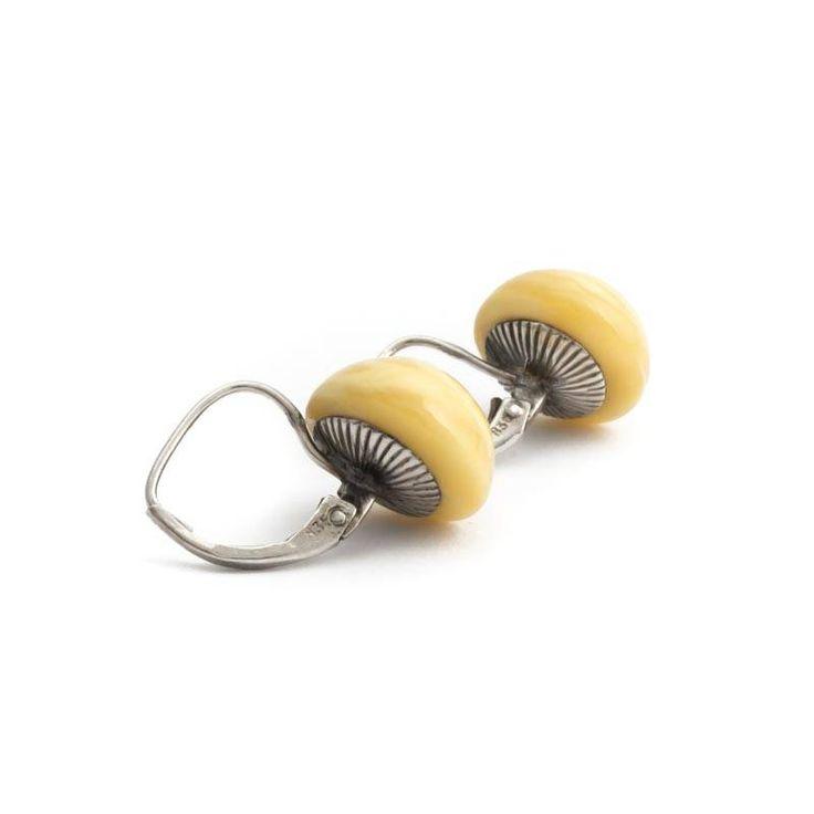 Aurora Patina Gele art deco oorbellen met honing barnsteen