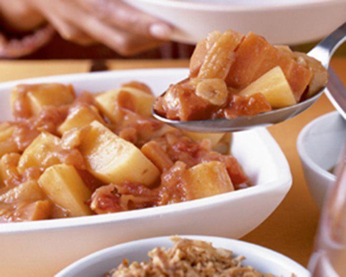 Zelf groene curry met aardappelen wokken recept