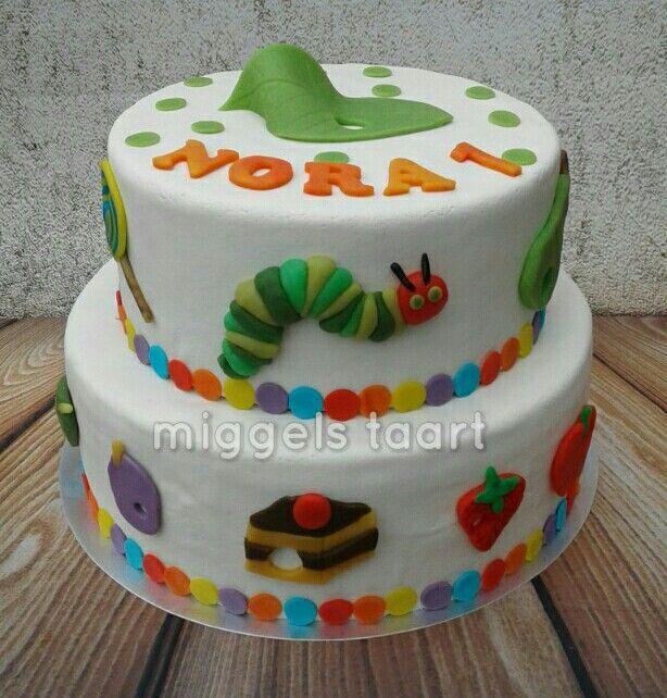 The very hungry caterpillar cake rupsje nooitgenoeg taart