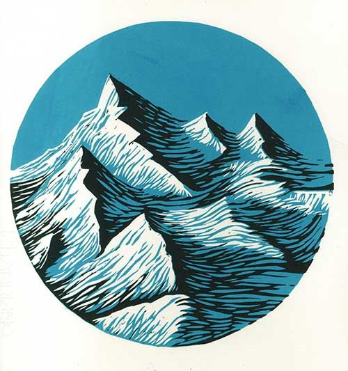 alps | Joanna Lisowiec. Mountains print.