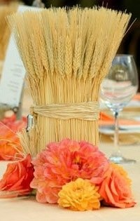 92 best wheat bundles images on pinterest herringbone centerpiece wheat bundles in mason jars with a ribbon around the lip sounds gorgeous for a fall junglespirit Images