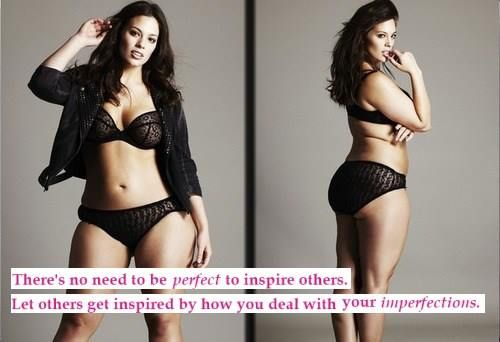 Don't be perfect! #curves #quotes