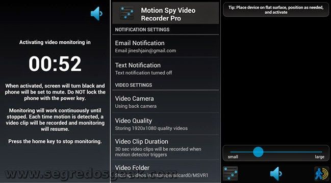 Motion Spy Video Recorder (Gravador de Vídeo Espião após movimento) [gratuito]