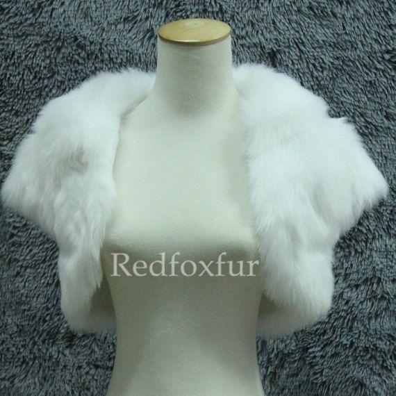 Fausse fourrure châle mariée blanc ivoire à manches courtes haussement d'épaules veste de demoiselle d'honneur châle wrap