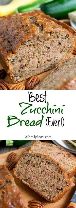 The Best Zucchini Bread Ever! This is the recipe you've been waiting for! Moist and delicious! by susanne