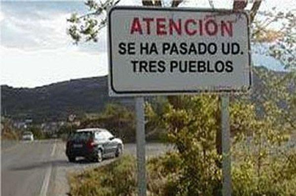 """¿Sabes qué significa la expresión """"pasarse tres pueblos""""? #Spanish"""