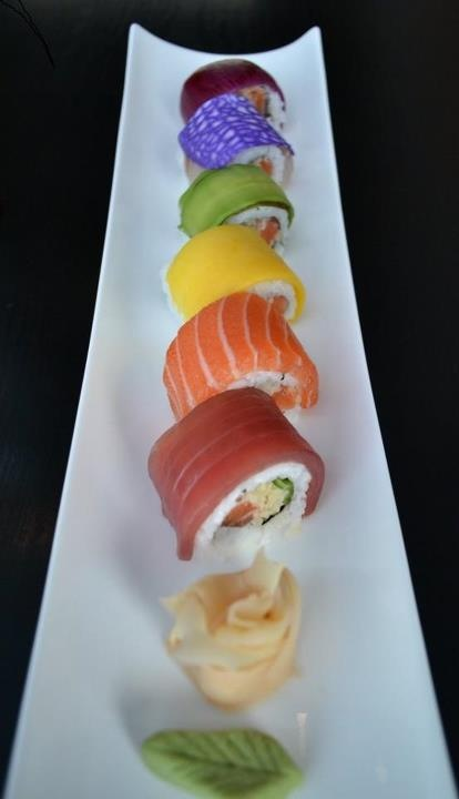Rainbow Pride Roll: at Chino Latino sushi