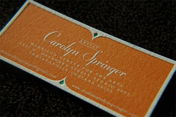 Business Card on Neenah, LETTRA, 220 DTCCarolyn Springer, Springer Business, Beautiful Business, Business Cards, Type Design, Artists Business, Biz Cards, Types Design, Greeting Cards