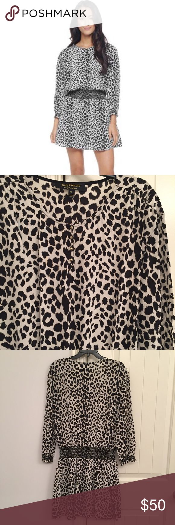 Leopard cheetah animal print dress XS Like new dress! Worn once and retailed for $128! Super cute and flattering! I'm also a 5 Star Seller and ship next day! 💖 Juicy Couture Dresses