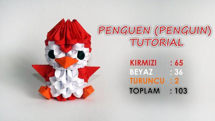 3D Origami Penguen Yapımı (Penguin Tutorial)