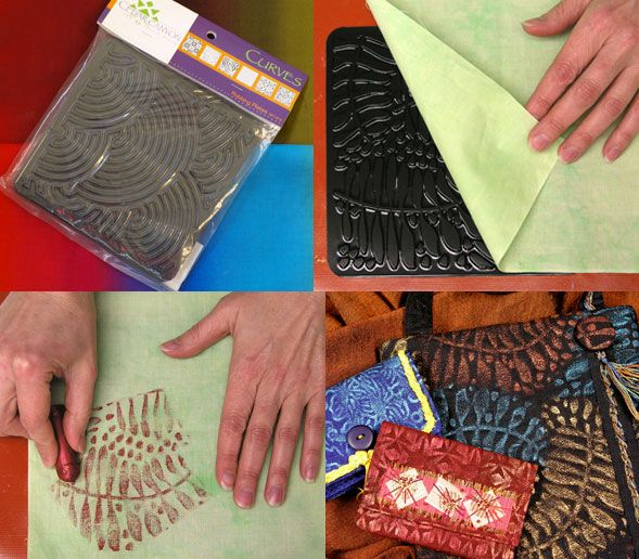 """Artist's Paintstik Rubbing Plates / 1set Ini adalah rubbing plate (papan gosok) untuk membuat motif diatas kain (bisa juga untuk kertas atau clay).  -Letakkan papan ini dibawah kain yang akan di buat motifnya. -Gunakan """"Paintstiks"""" atau fabric pastel untuk pewarnaannya. \ #id12484"""