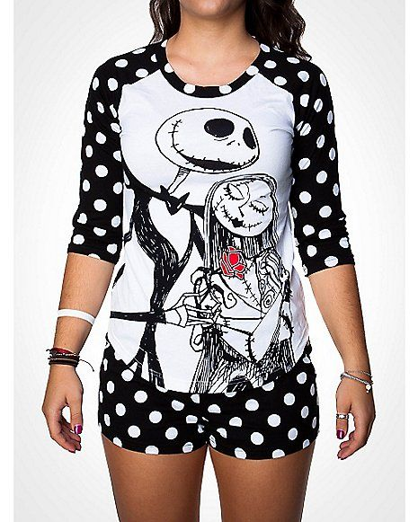 Nightmare Before Christmas Shirt Boxer Pajama Set - Spencer's
