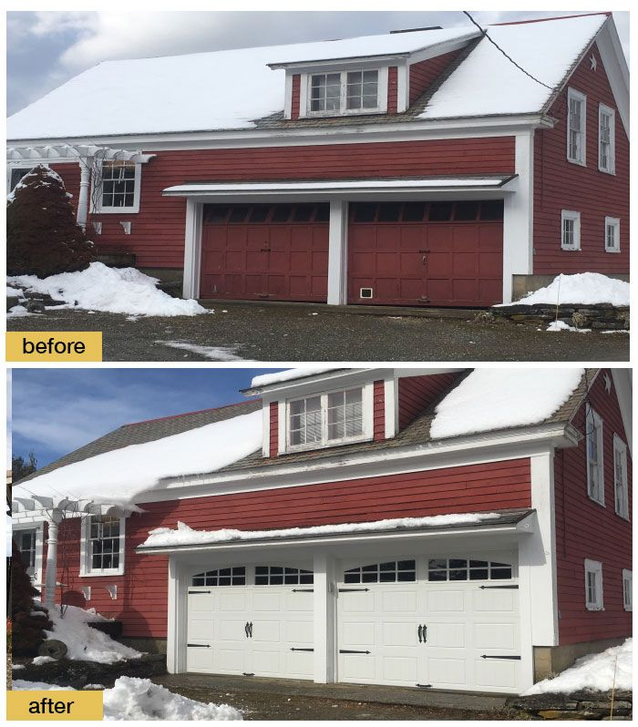 March 2018 Garage Door Makeover Before After Photo In 2020 Garage Door Styles Garage Door Design Garage Door Types