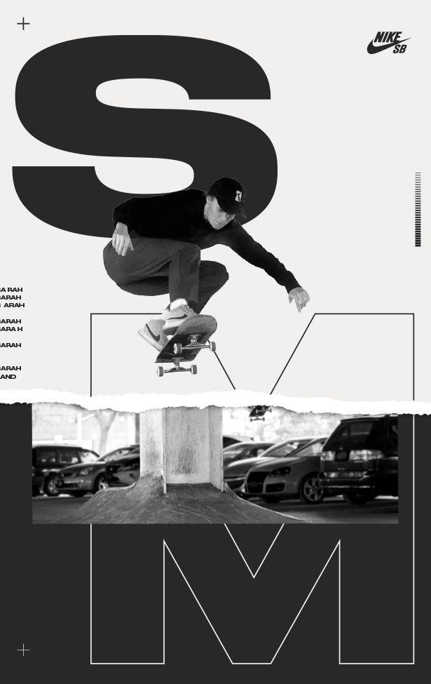 Nike Sb Sarah Meurle Nike Posters Skateboarding Posters Nikesb Skateposters Designposters Typogr Graphic Design Posters Nike Sb Sports Graphic Design