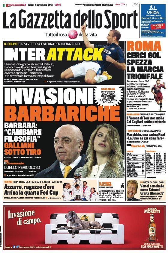 La Gazzetta dello Sport (04-11-13) Italian | True PDF | 48 22 pages | 9,75 7,3 Mb