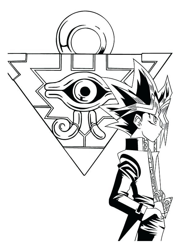 Millenium Puzzle And Yami Yugi Puzzle Drawing Coloring Pages