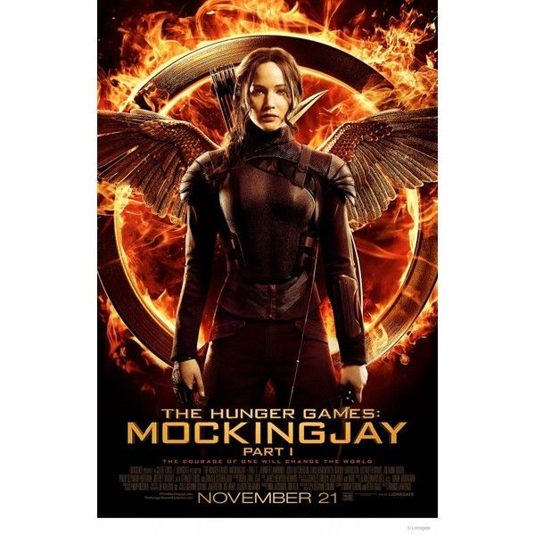 "Jennifer Lawrence ""Hunger Games: Mockingjay"" Poster Art ❤ liked on Polyvore featuring movies, hunger games, the hunger games, fandom, objects and filler"