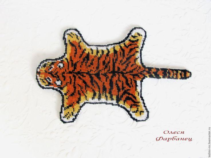 Купить Миниатюра ковер шкура тигра, кукольный ковер, подарок охотнику - шкура тигра