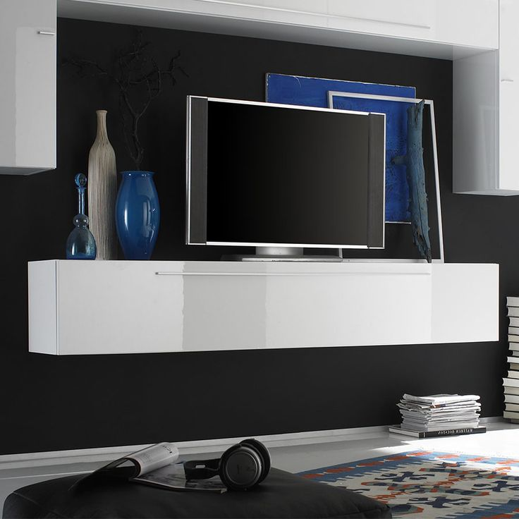 1000 id es propos de meuble tv suspendu sur pinterest. Black Bedroom Furniture Sets. Home Design Ideas