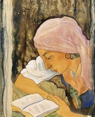 Jeune Valaisanne, 1944 Reading and Art: Charles-Clos Olsommer