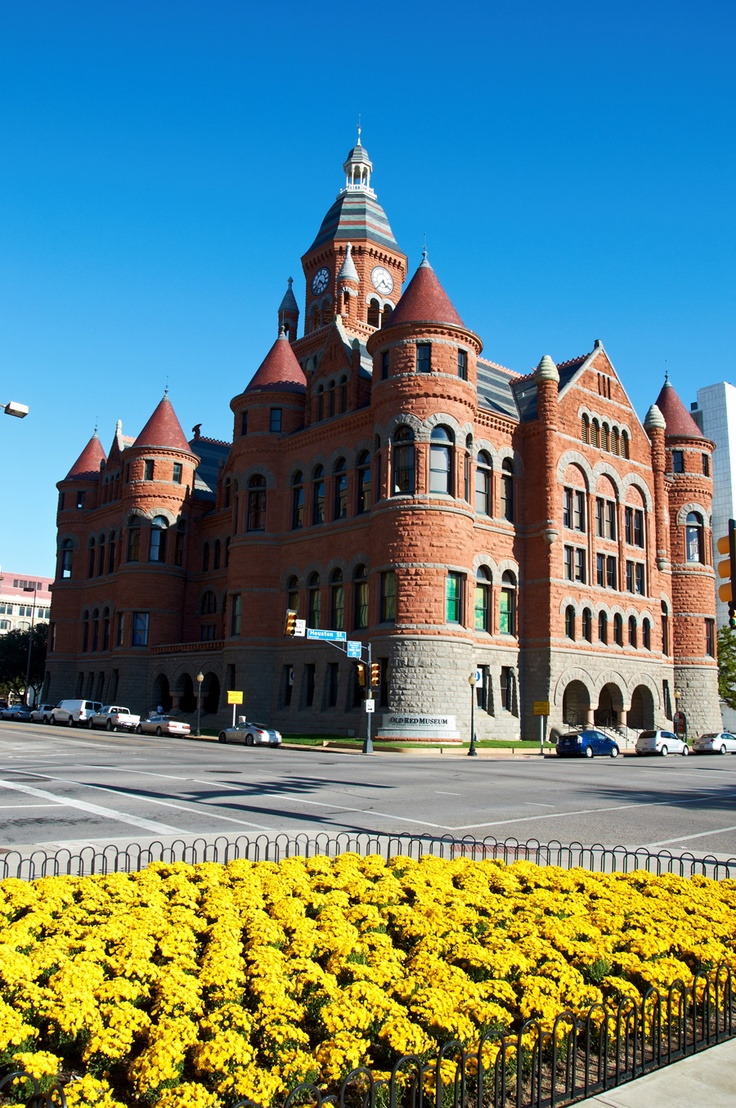 Old Red Courthouse, Dallas, Texas, now Museum of Dallas County History Culture, Dallas, Texas - Built in 1892, it serves as a symbol of Dallas heritage. The beautifully restored Old Red Courthouse contains some of Dallas County's most fascinating historical artifacts.