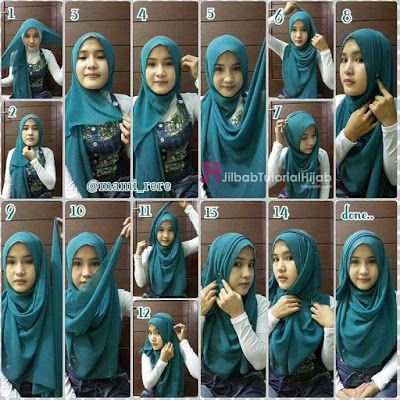 Tutorial Hijab Pashmina untuk ke Kantor cantik terbaru