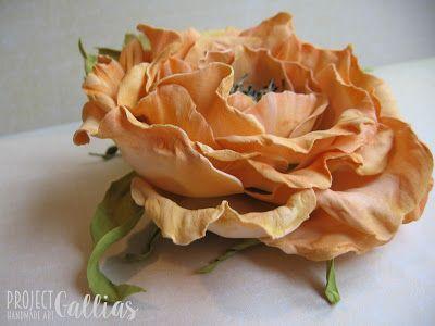 ProjectGallias: #projectgallias Wild rose, foamiran Dzika róża