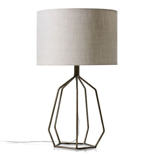 York Table Lamp Gold and Natural