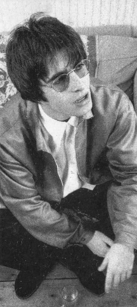 Liam Gallagher, Photo of Definitely Maybe, 1994.