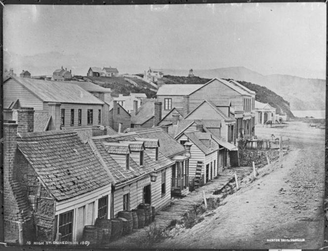 High Street, Dunedin - Photograph taken by the William Meluish