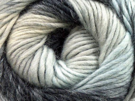 Knitting yarn Magic Wool DeLuxe gray black by specialyarnshop, $11.50