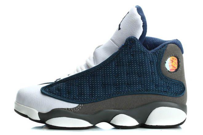 Michael Jordan 13 Shoes Kids Size - Grey/White/Blue Sports Shoes ...