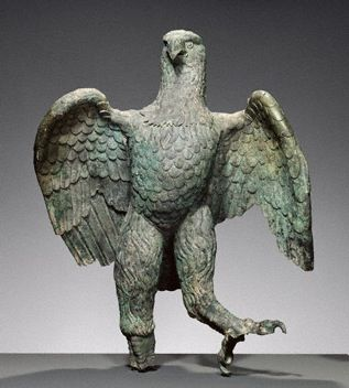 Eagle, Roman, A.D. 100–300. Bronze, 104.2 x 78.7 x 76.2 cm. The J. Paul Getty Museum, 72.AB.151 - See more at: http://blogs.getty.edu/iris/curating-the-aztec-pantheon/#sthash.2itGz6jy.dpuf