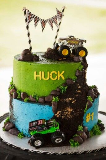 Monster Truck Birthday cake from Bake to Create out of Harrison AR