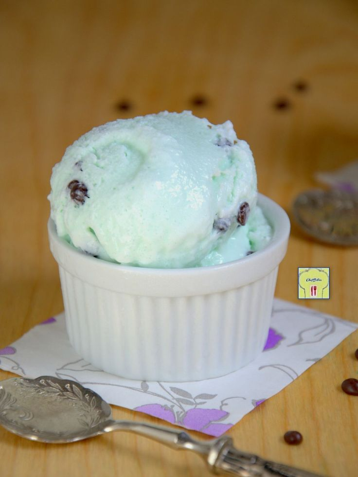 gelato senza gelatiera alla menta