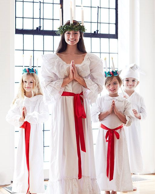 Santa Lucia Day Celebration Free Crown Printables - http://www.sweetpaulmag.com/crafts/santa-lucia-crown-printables #sweetpaul