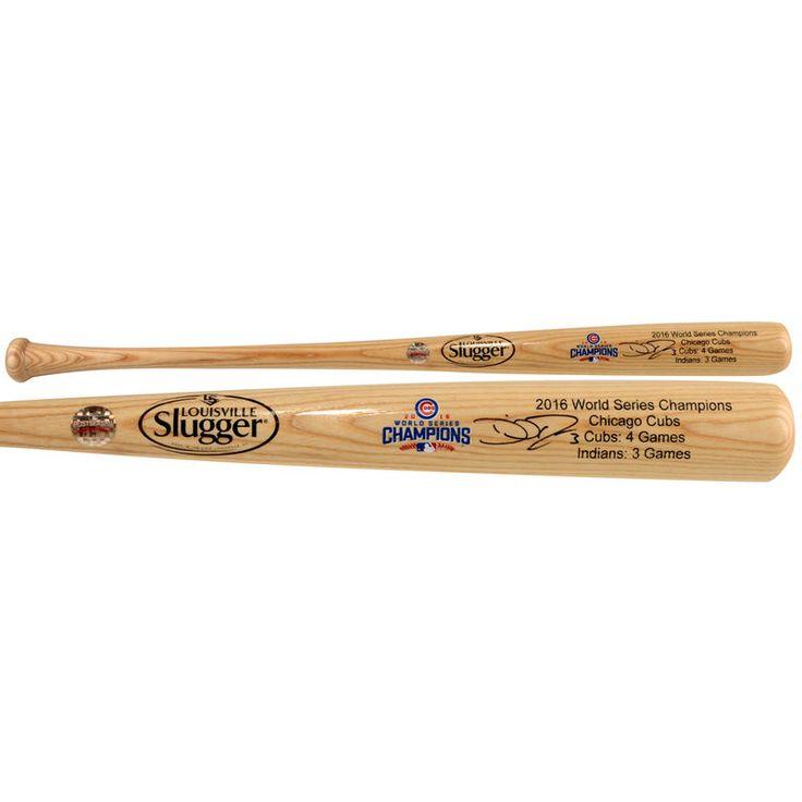 David Ross Chicago Cubs Fanatics Authentic 2016 MLB World Series Champions Autographed Louisville Slugger Blonde Champions Bat